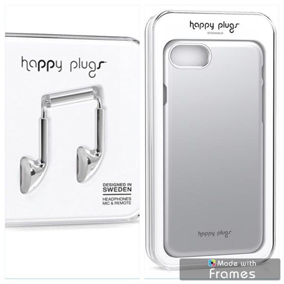 reputable site 22ec4 e21b7 Happy Plugs iPhone 7 slim case + headphones silver
